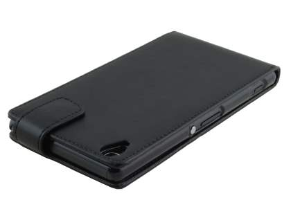Sony Xperia Z3 Synthetic Leather Flip Case - Classic Black