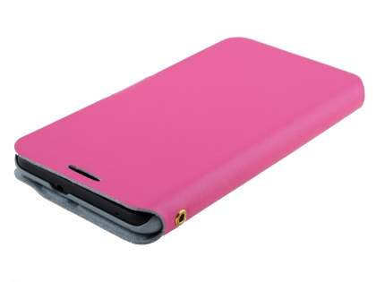 HTC Desire 816 Slim Genuine Leather Portfolio Case - Pink