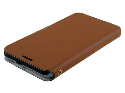 HTC Desire 816 Slim Genuine Leather Portfolio Case - Brown