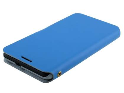 HTC Desire 816 Slim Genuine Leather Portfolio Case - Blue