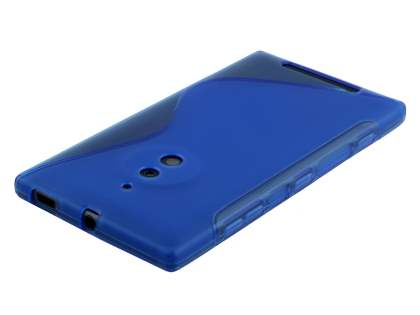 Nokia Lumia 830 Wave Case - Frosted Blue/Blue