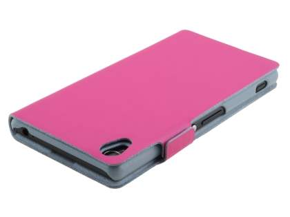 Sony Xperia Z3 Slim Genuine Leather Portfolio Case - Pink