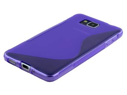Wave Case for Samsung Galaxy Alpha - Frosted Purple/Purple
