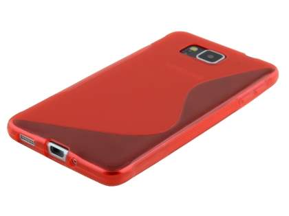 Samsung Galaxy Alpha Wave Case - Frosted Red/Red