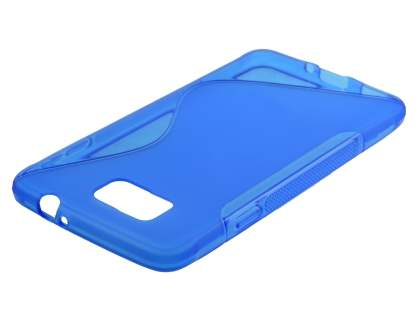 Samsung Galaxy Alpha Wave Case - Frosted Blue/Blue