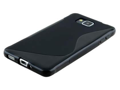 Wave Case for Samsung Galaxy Alpha - Frosted Black/Black