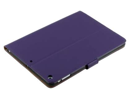 Premium Genuine Leather Case with Stand for iPad Air 1st Gen - Dark Purple