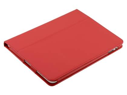 iPad 1st Gen Synthetic Leather Flip Case with Fold-Back Stand - Red