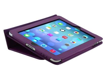 iPad 1st Gen Synthetic Leather Flip Case with Fold-Back Stand - Purple