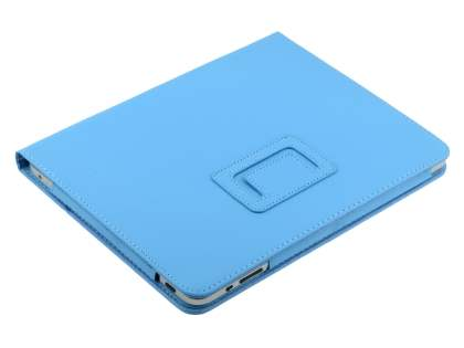 Synthetic Leather Flip Case with Fold-Back Stand for iPad 1st Gen - Sky Blue