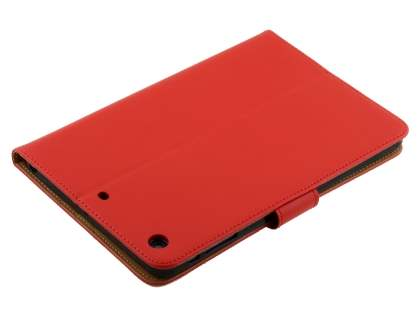 Premium Genuine Leather Case with Stand for iPad mini 1/2/3 - Red