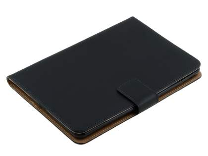 Premium Genuine Leather Case with Stand for iPad mini 1/2/3 - Classic Black