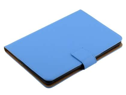 Premium Genuine Leather Case with Stand for iPad mini 1/2/3 - Sky Blue