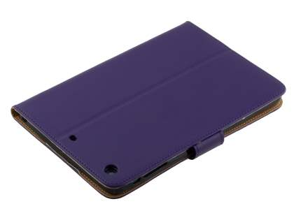Premium Genuine Leather Case with Stand for iPad mini 1/2/3 - Dark Purple