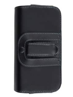 Extra-tough Genuine Leather belt pouch (Bumper Case Compatible) for Samsung Galaxy Alpha