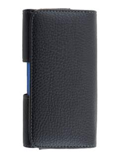 Textured Synthetic Leather Belt Pouch (Bumper Case Compatible) for Samsung Galaxy Alpha - Belt Pouch