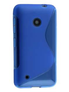 Wave Case for Nokia Lumia 530 - Frosted Blue/Blue Soft Cover