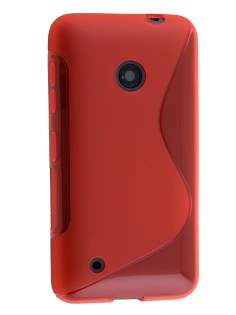 Wave Case for Nokia Lumia 530 - Frosted Red/Red Soft Cover