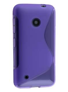 Wave Case for Nokia Lumia 530 - Frosted Purple/Purple Soft Cover