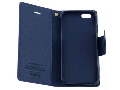 Mercury Goospery Colour Fancy Diary Case with Stand for iPhone 6s Plus/6 Plus - Lime/Navy