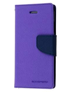 Mercury Goospery Colour Fancy Diary Case with Stand for iPhone 6s Plus/6 Plus - Purple/Navy