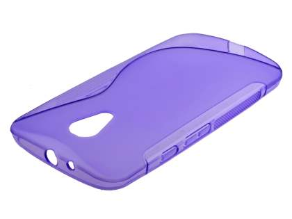 Wave Case for Motorola Moto G 2nd Gen - Frosted Purple/Purple Soft Cover