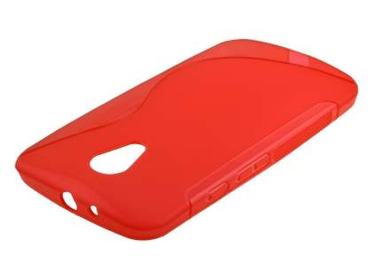 Wave Case for Motorola Moto G 2nd Gen - Frosted Red/Red Soft Cover