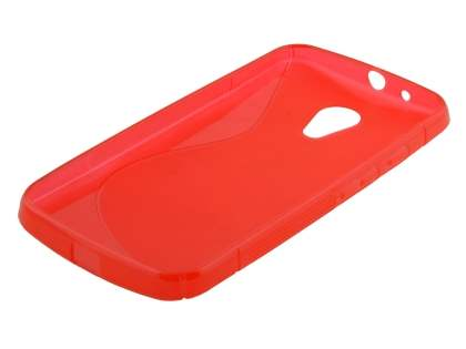 Motorola Moto G 2nd Gen Wave Case - Frosted Red/Red