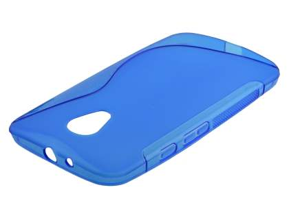 Wave Case for Motorola Moto G 2nd Gen - Frosted Blue/Blue Soft Cover
