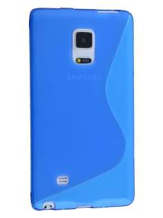 Wave Case for Samsung Galaxy Note Edge - Frosted Blue/Blue