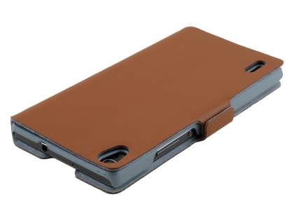 Huawei Ascend P7 Slim Genuine Leather Portfolio Case - Brown