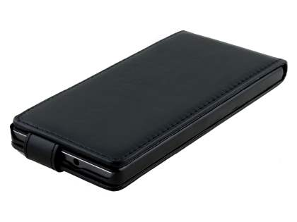 Huawei Ascend P7 Synthetic Leather Flip Case - Black
