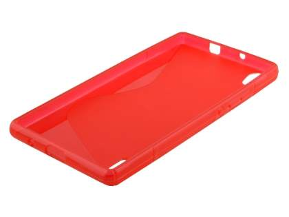 Huawei Ascend P7 Wave Case - Frosted Red/Red
