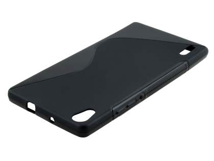 Huawei Ascend P7 Wave Case - Frosted Black/Black