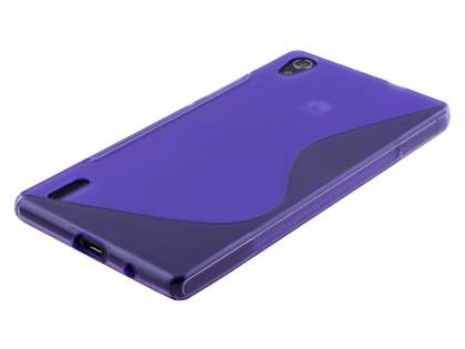 Huawei Ascend P7 Wave Case - Frosted Purple/Purple