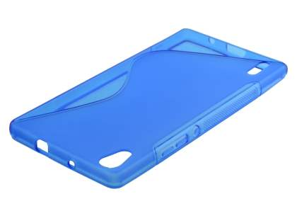 Wave Case for Huawei Ascend P7 - Frosted Blue/Blue