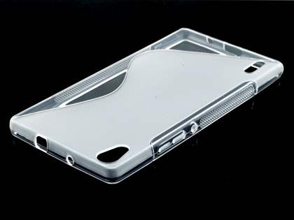Wave Case for Huawei Ascend P7 - Frosted Clear/Clear