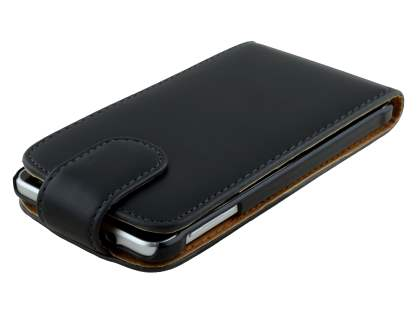 Samsung Galaxy Alpha Synthetic Leather Flip Case - Black