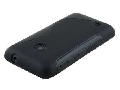 Nokia Lumia 530 Wave Case - Frosted Black/Black