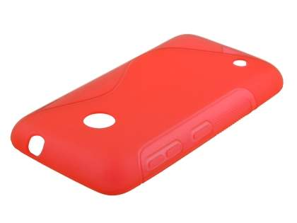 Nokia Lumia 530 Wave Case - Frosted Red/Red