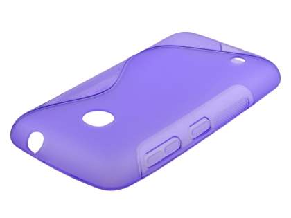 Nokia Lumia 530 Wave Case - Frosted Purple/Purple
