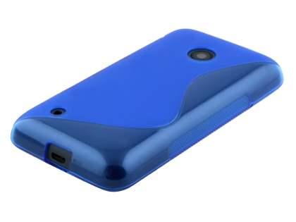 Nokia Lumia 530 Wave Case - Frosted Blue/Blue