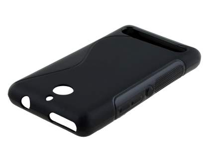 Wave Case for Sony Xperia E1 - Frosted Black/Black Soft Cover