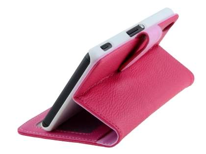 Synthetic Leather Wallet Case with Stand for Sony Xperia Z3 - Pink