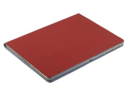 Premium Slim Genuine Leather Portfolio Case with Stand for Samsung Galaxy Tab S 10.5 - Red