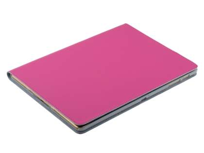 Premium Slim Genuine Leather Portfolio Case with Stand for Samsung Galaxy Tab S 10.5 - Pink