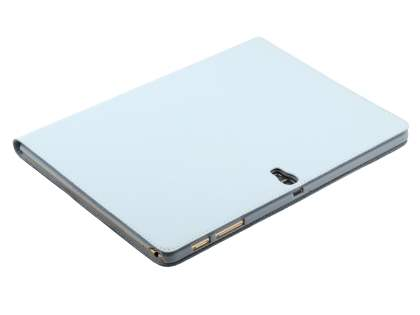 Premium Slim Genuine Leather Portfolio Case with Stand for Samsung Galaxy Tab S 10.5 - Pearl White
