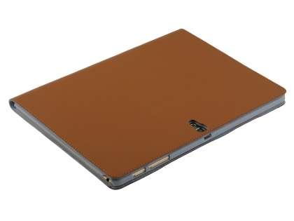 Premium Slim Genuine Leather Portfolio Case with Stand for Samsung Galaxy Tab S 10.5 - Brown