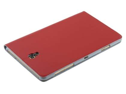 Premium Slim Genuine Leather Portfolio Case with Stand for Samsung Galaxy Tab S 8.4 - Red