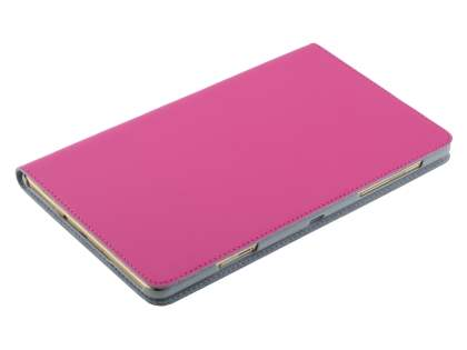 Premium Slim Genuine Leather Portfolio Case with Stand for Samsung Galaxy Tab S 8.4 - Pink